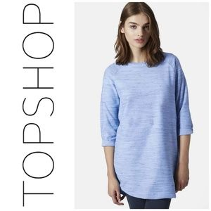 TOPSHOP Blue Space Dye Tunic